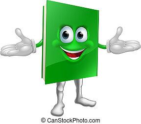 szczęśliwy, książka, rysunek, człowiek