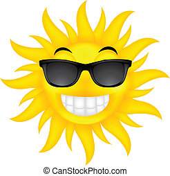 szczęśliwy, lato, słońce, z, okulary