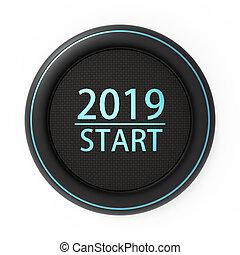 szczęśliwy nowy rok, konceptualny, powitanie karta, odizolowany, z, biały