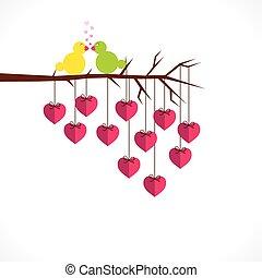 szczęśliwy, projektować, dzień, valentine