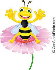 szczęśliwy, pszczoła