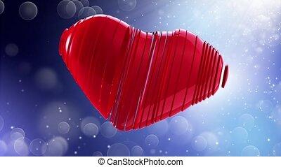 szczęśliwy, valentine, day., video, powitania, do, valentine, day., w, przedimek określony przed rzeczownikami, środek, od, niejaki, czerwony, heart.