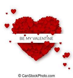 szczęśliwy, valentine`s dzień, powitanie karta, osłona,...