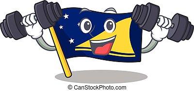 szczęśliwy, woluta, litera, tokelau, siła robocza, bandera,...