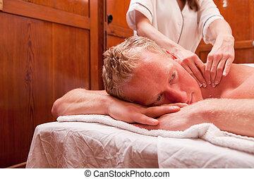 szczegół, masaż