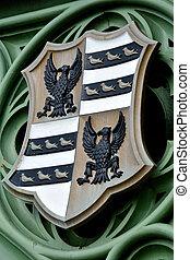 szczegół, od, heraldyczny, tarcza, od, lambeth most