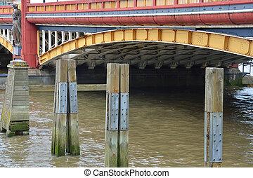 szczegół, od, lambeth most, londyn