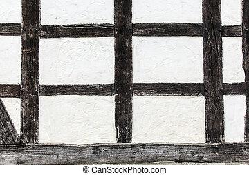 szczegół, od, stary, historyczny, ułożyć, dom