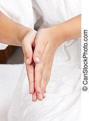 szczegół, samicze ręki