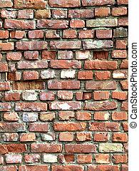 szczegółowy, komplet, ściana, -, struktura, tło, #3, cegła
