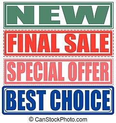 szczególny, nowy, ostateczny, wybór, oferta, sprzedaż, najlepszy