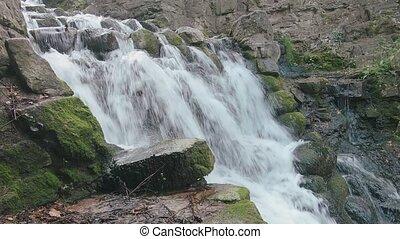 szczelnie-do góry, fałdzisty, wodospad, woda, w górę,...