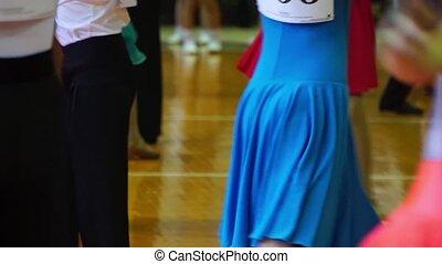 szczelnie-do góry, od, nogi, taniec, pary, w, ballroom.