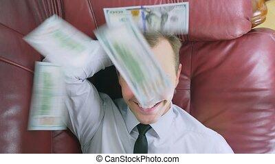szczelnie-do góry, pojęcie, osoba, dolary, górny, jemu,...