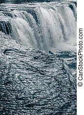 szczelnie-do góry, wodospad, toning