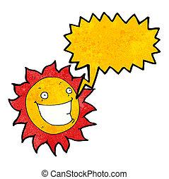 szczerzenie zębów, słońce, litera, rysunek