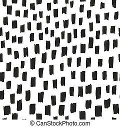 szczotka, pattern., wektor, seamless, struktura, tło