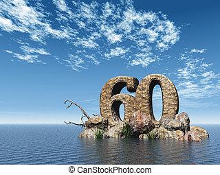 sześćdziesiąt, kamień