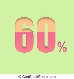sześćdziesiąt, symbol, procent