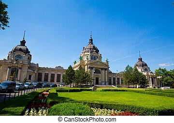 Szechenyi Furdo in Budapest - The Szechenyi Furdo in...