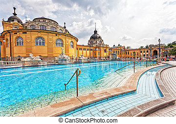 szechenyi, thermal, bäder, in, budapest.