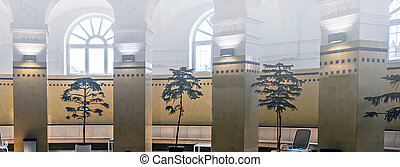 Szechenyi Thermal public Baths in Budapest, Hungary - Vacation travel concept.