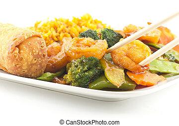 Szechuan Shrimp with Chinese Vegetables