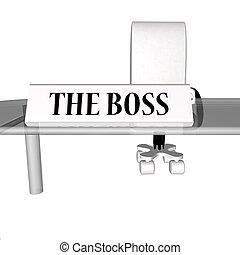 szef, biurko