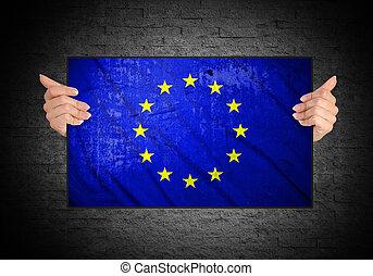 szegényház lobogó, európai, hatalom kezezés