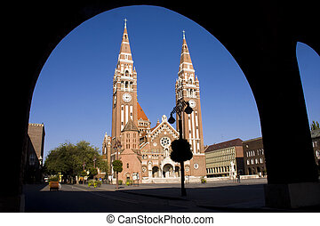 Szegedi Dom (Church of Szeged) - The church in centre of...