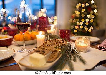 szelet, élelmiszer, más, asztal, karácsony, bread