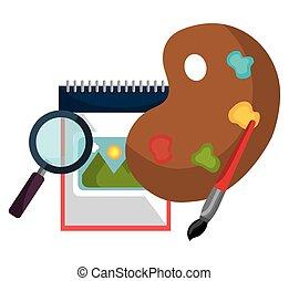 szellemi foglalkozás, téma, graphic rajzóra, tervezés