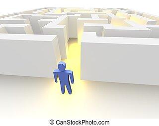 személy, és, labirintus