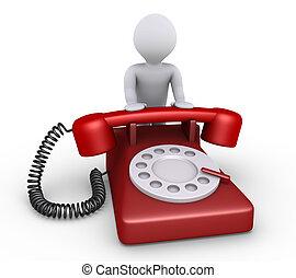 személy, van, noha, telefon