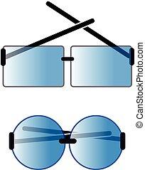 szemüveg, háttér, fehér