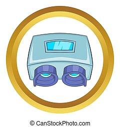 szem, átvizsgálás, gép, ikon