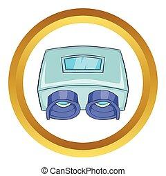 szem, átvizsgálás, gép, vektor, ikon