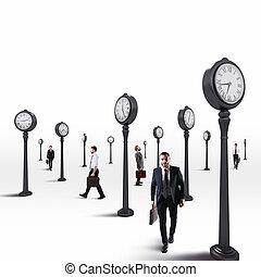 szem, ügy, always, férfiak, clock., tart, vakolás, 3