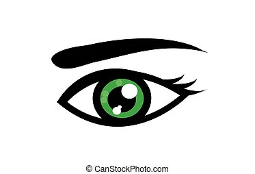 szem, elvont, ábra, vektor, művészet, ikon