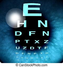 szem, makro, látomás