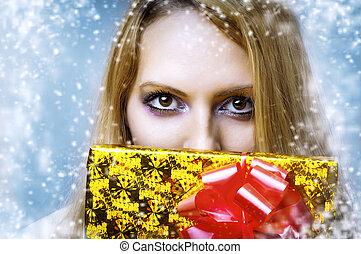 szemek, alkat, karácsony, giftbox