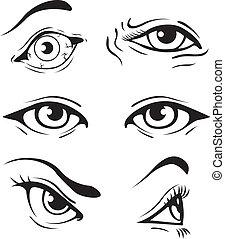 szemek, különféle