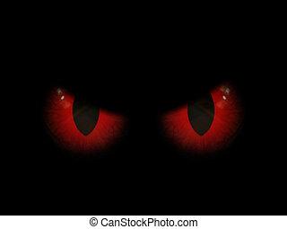 szemek, mindenszentek napjának előestéje, rossz, háttér, piros, 3