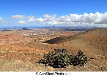 szenerie, berglandschaft, fuerteventura, spanien