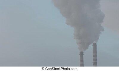 szennyezés, dohányzik, levegő
