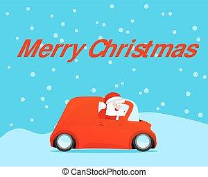 szent, autó, autózás, kártya, karácsony