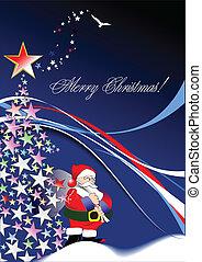 szent, -, vektor, háttér, év, új, karácsony, image.