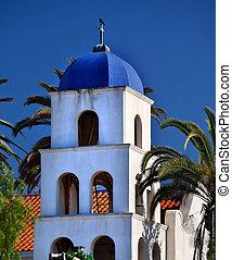 szeplőtlen eszme, templom, öreg, san diego, város, kalifornia