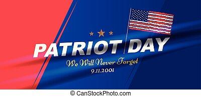 szeptember, 11., nyomdászat, usa, flag., sablon, emlékezőtehetség, lakás, mi, poszter, soha, transzparens, nap, forget., 10, patrióta, emberek., eps, elem, akar, amerikai, 2001