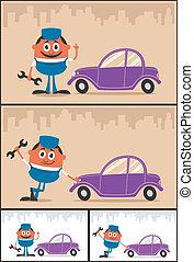 szerelő, autó